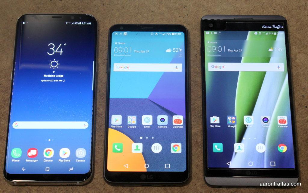 LG V20, LG G6, Samsung Galaxy S8+