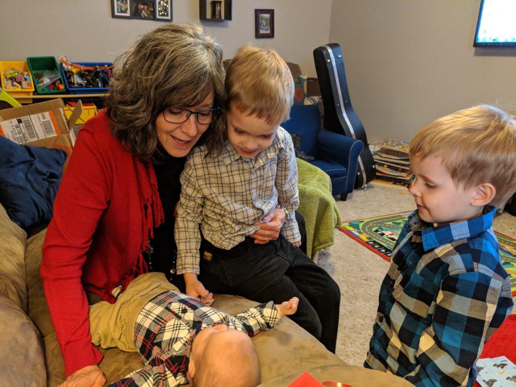 Boys with Grandma