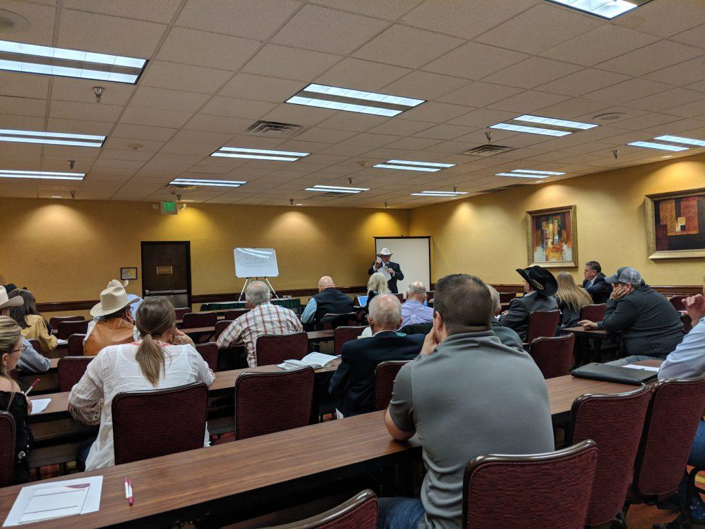 Neal Davis teaching auctioneers in Colorado